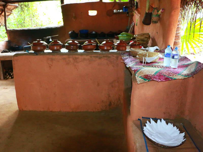 Sri Lankan Buffet Organic Local Food - Village Tour Sri Lanka